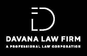Davana Law Firm Logo, white text